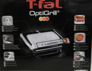 The T-fal GC704 OptiGrill Stainless Steel Indoor Electric Grill