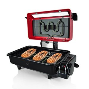 This Indoor Grill Is Perfect To Roast Fish It Has Built In Top And Bottom Heating Element Cookers Make Sure Everything Gets Prepared Fully